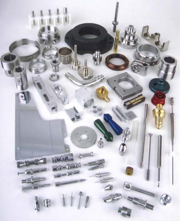 Assorted metal machined parts